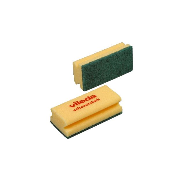 Cloths / Dusters / Scourers / Sponges Value Foamback Sponge Scourer Green/Yellow (Pack 10)