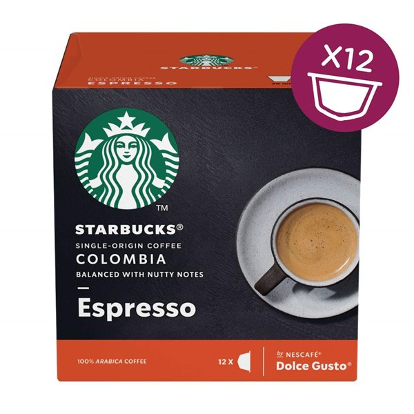 Coffee STARBUCKS by Dolce Gusto Colombia Med Gusto Espresso PK3