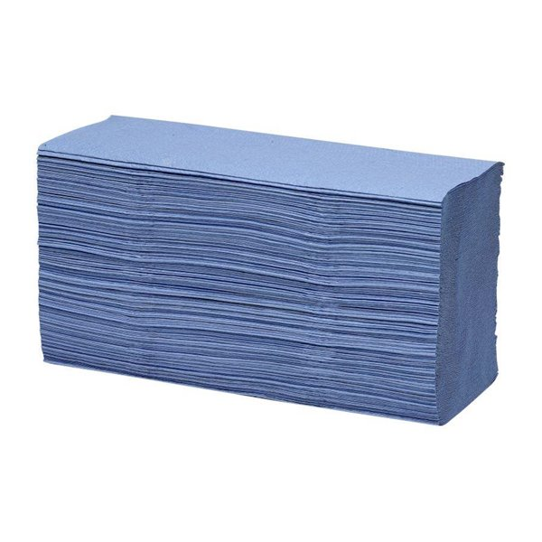 Hand Towels & Dispensers Maxima 1ply Z Fold Hand Towel Blue (Pack 15)