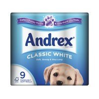 Andrex Toilet Rolls 2 Ply 240 Sheets Classic White (9 Rolls)