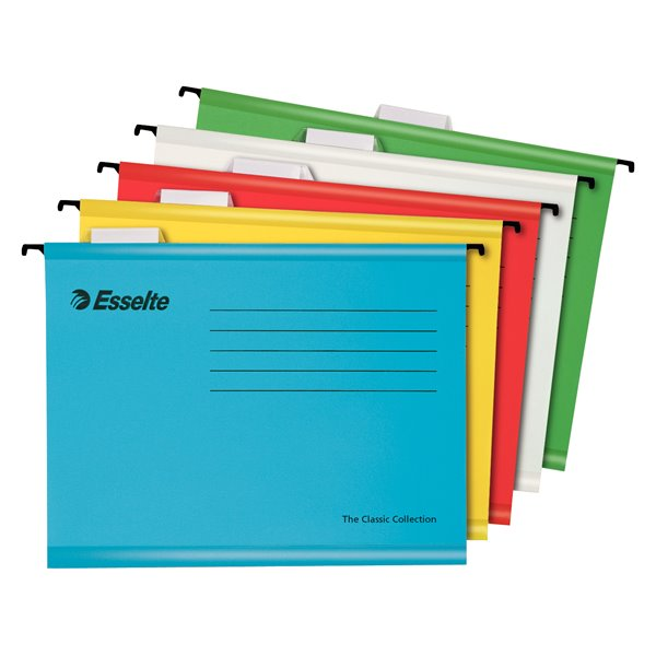 Esselte Pendaflex Reinforced Susp File A4 Assorted BX10