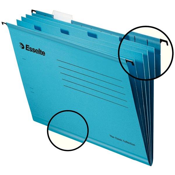 Suspension File Esselte Pendaflex Reinforced Susp File Foolscap Blue BX10