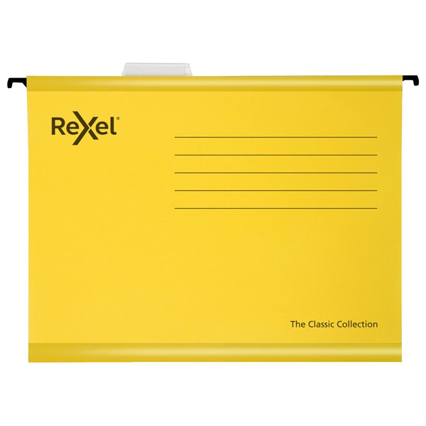 Rexel Classic Suspension Files A4 Yellow PK25