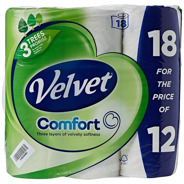 Toilet Tissue & Dispensers Velvet Toilet Roll Pack 18 For The Price of Pack 12