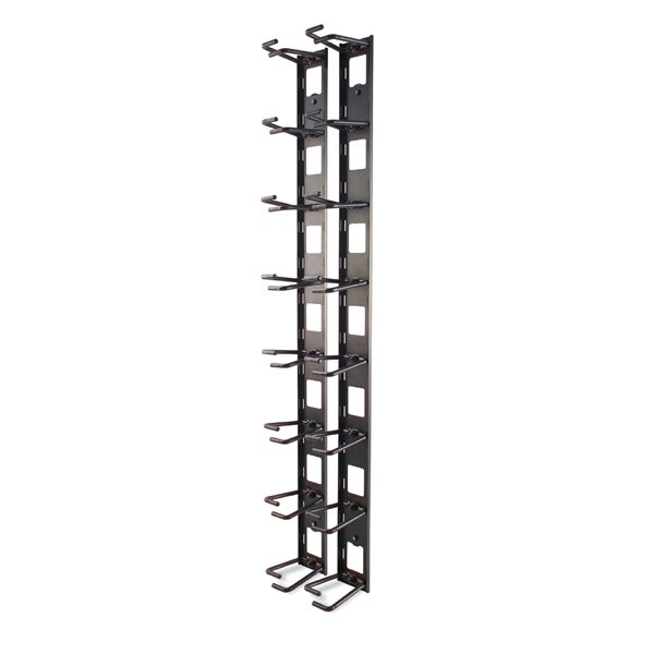 Cable Ducting Vertical Cable Organiser 8 Rings Zero U