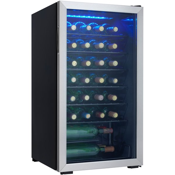 Tea / Coffee / Sugar Storage 36 Bottles 93L Black Wine Cooler