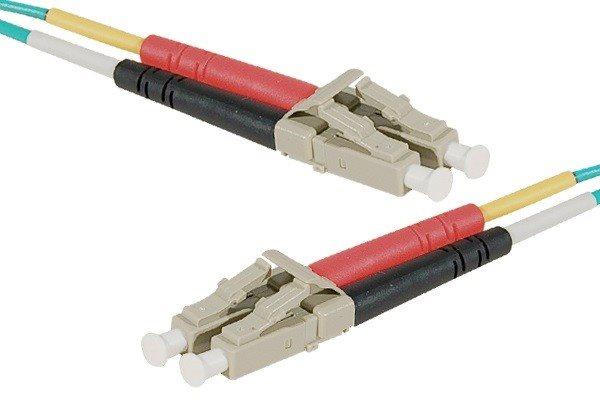 Cables & Adaptors EXC Fiber Duplex Patch OM4 50 125 Aqua
