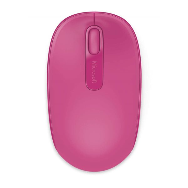 Wired Microsoft Wireless Mouse 1850 Magenta Pink