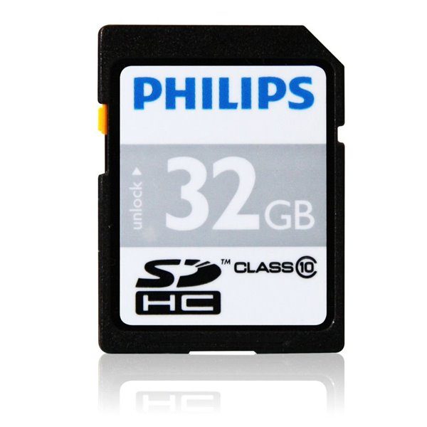 Hard Drives Philips 32GB CL10 MicroSDHC Card