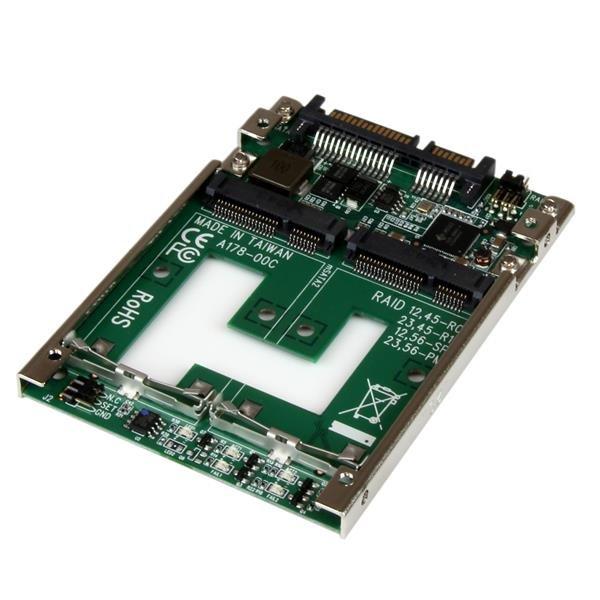 Hard Drives Dual mSATA SSD to 2.5 SATA RAID Adapter