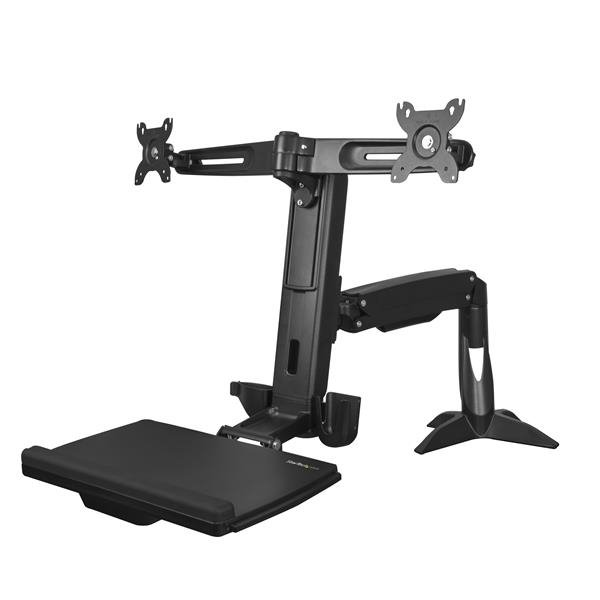 Accessories Sit Stand Dual Monitor Arm Up to 24in