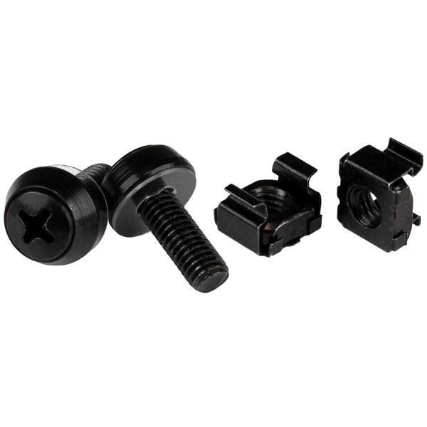 Servers M6x12mm Screws and Cage Nuts x100 Black