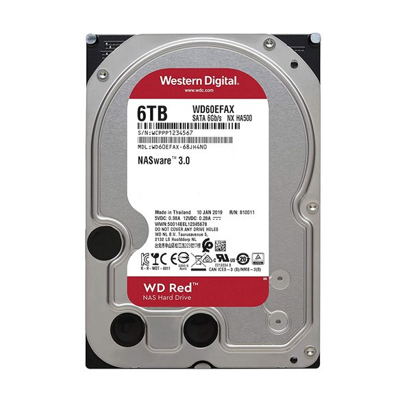 WD HDD Internal 6TB Red 54 SATA 3.5