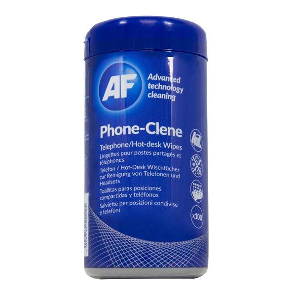 Telephone AF Phoneclene Hygenic Wipes Tub of 100