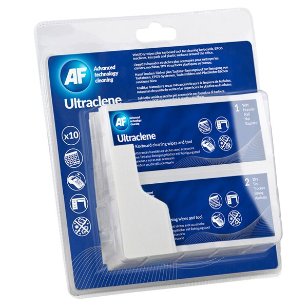 Air Dusters AF Ultraclene Duo Sachets/Card PK10