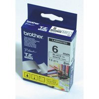 Labelling Tapes & Labels Brother TZE261 Black On White Label Tape 36mmx8m