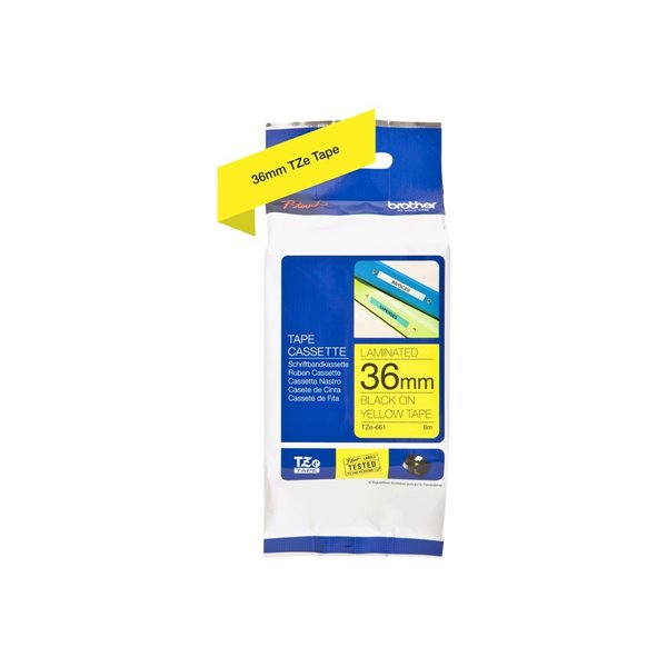 Labelling Tapes & Labels Brother TZE661 Black on Yellow Label Tape 36mmx8m