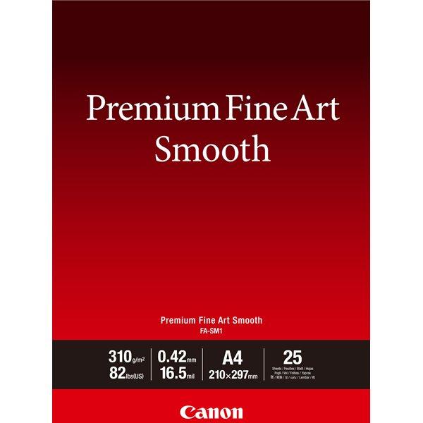 A4 Canon 1711C001 A4 Fine Art Paper 25 Sheets