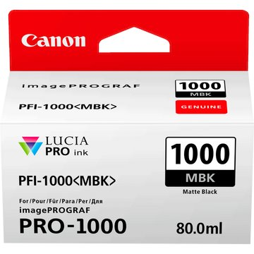 Canon 0545C001 PFI1000 Matte Black Ink 80ml