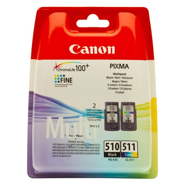 Canon 2970B010 PG510 CL511 Ink 2x9ml Multipack