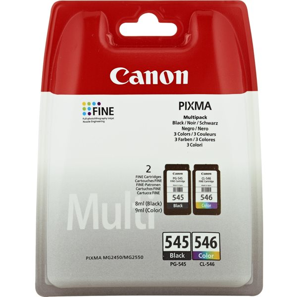 Canon 8287B005 PG545 CL546 Ink Multipack