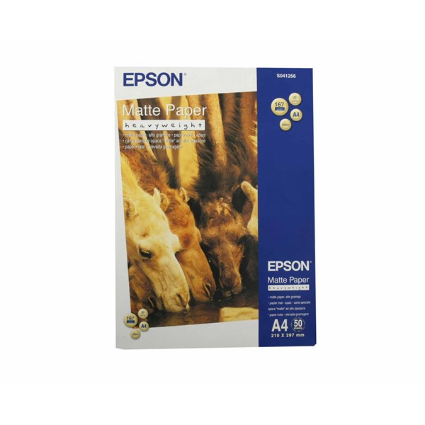 A3 Epson C13S041256 Matte Heavyweight Paper A4 50 Sheets