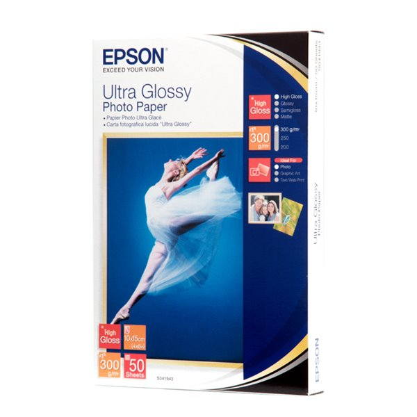 Photo Paper Epson C13S041943 Ultra Glossy Photo Paper 10x15cm 50 Sheets
