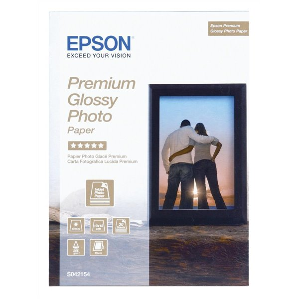 Photo Paper Epson C13S042154 Glossy Photo 13x18cm 30 Sheets