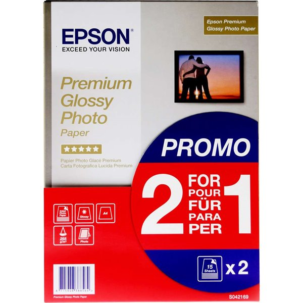 Photo Paper Epson C13S042169 Glossy Photo Paper A4 2x15 Sheets