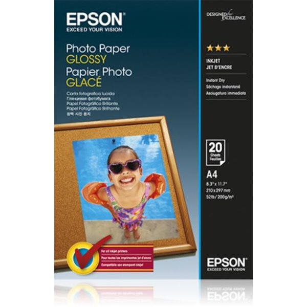 Photo Paper Epson C13S042538 Glossy Photo Paper A4 20 Sheets