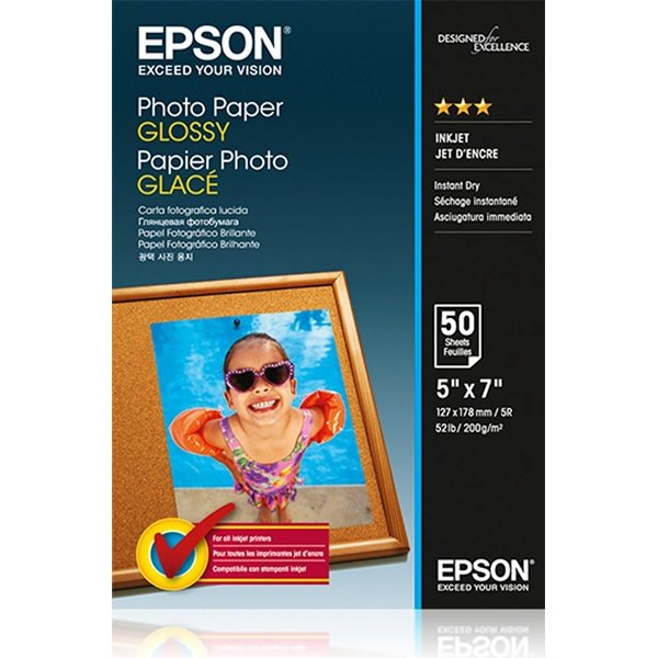Photo Paper Epson C13S042545 Glossy Photo Paper 13x18cm 50 Sheets