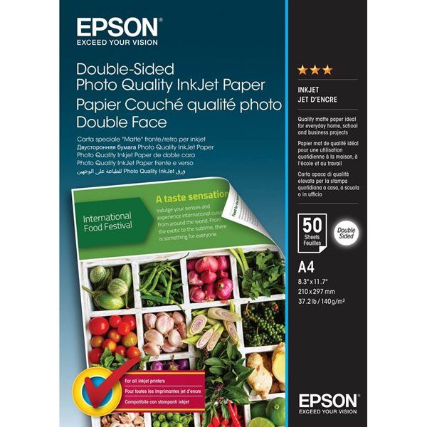 Epson C13S400059 Double Sided Photo Paper A4 50 Sheets