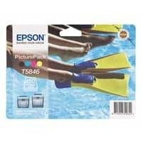 Photo Paper Epson C13T58464010 T5846 PhotoPack Ink 39ml Paper 150 Sheets