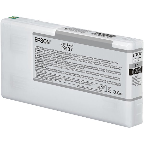 Epson C13T913700 T9137 Light Black Ink 200ml