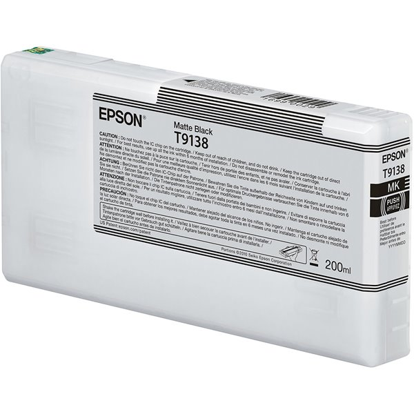 Epson C13T913800 T9138 Matte Black Ink 200ml