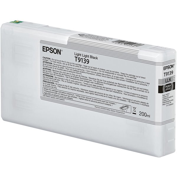 Epson C13T913900 T9139 Light Light Black Ink 200ml