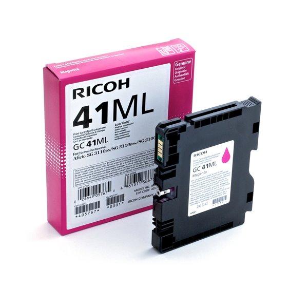 Ricoh 405767 GC41ML Magenta Gel Ink 600