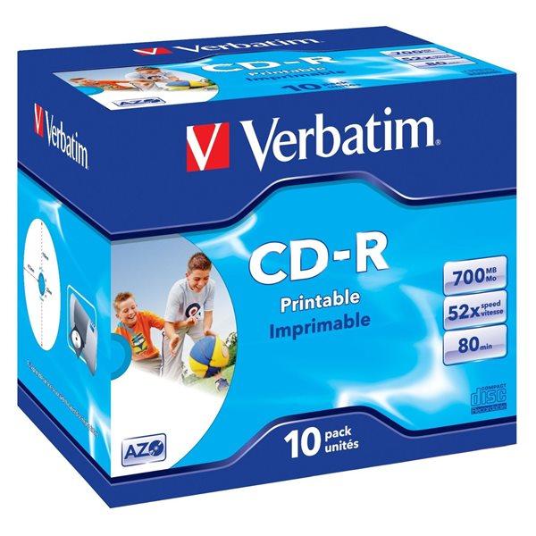 Verbatim CDR Printable 700MB Box of 10