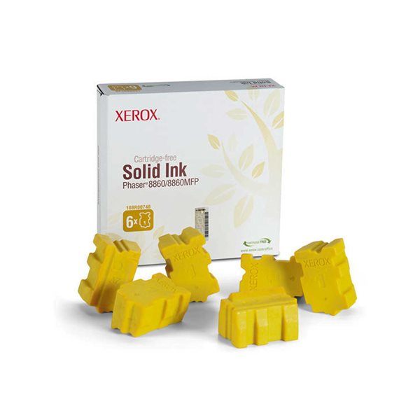 Ink Sticks Xerox 108R00748 Yellow Solid Ink 14K 6 Pack