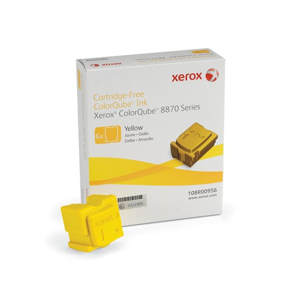 Ink Sticks Xerox 108R00956 Yellow Solid Ink 17.3K 6 Pack